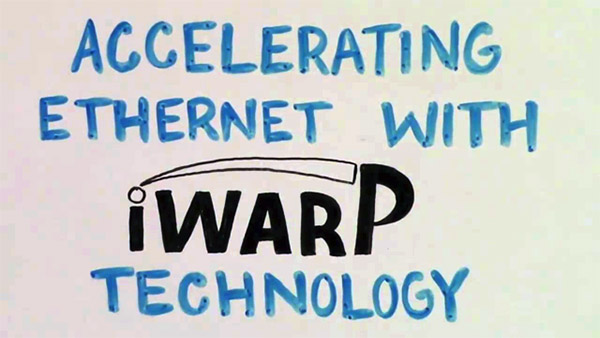 Accelerating Ethernet with iWARP Technology: the Movie